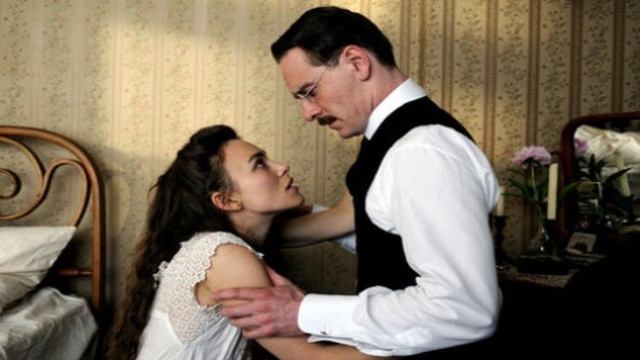 Michael Fassbender and Keira Knightley in Cronenberg's A Dangerous Method